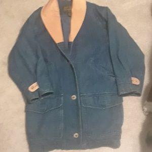 Eddie Bauer jean coat